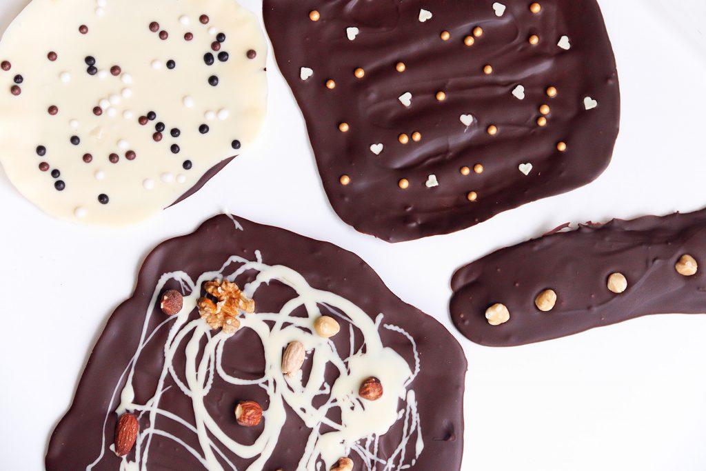 Verschillende soorten zelfgemaakte chocolade