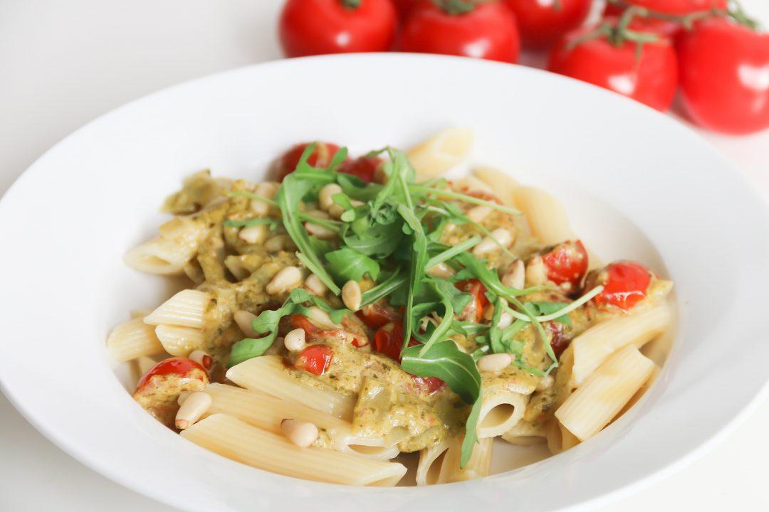 pasta pesto tomaat