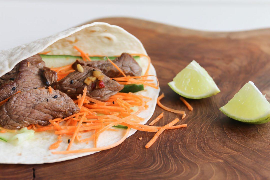 koreaanse biefstukwrap zijkant